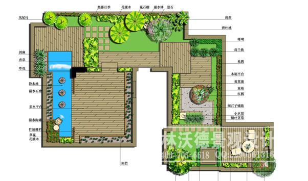 屋顶平台花园设计_庭院屋顶花园