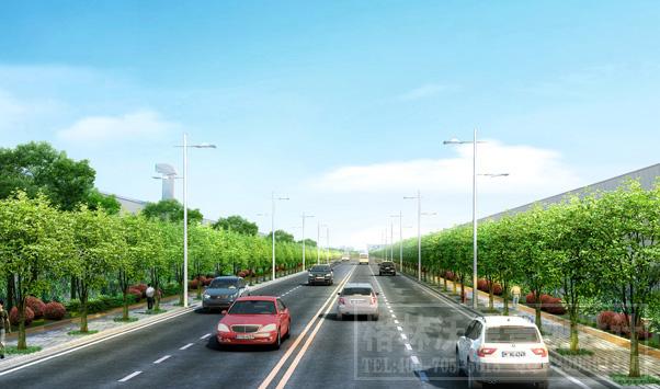 榔梨工业园道路景观设计