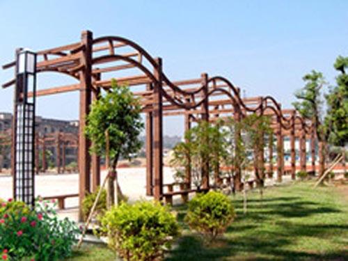 深圳景观设计公司:园林小品—廊架
